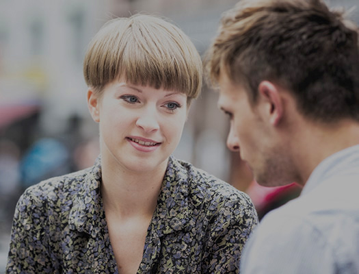 Couple talking about suicide