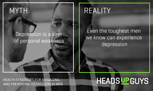 Mens Depression Myths - Common illness