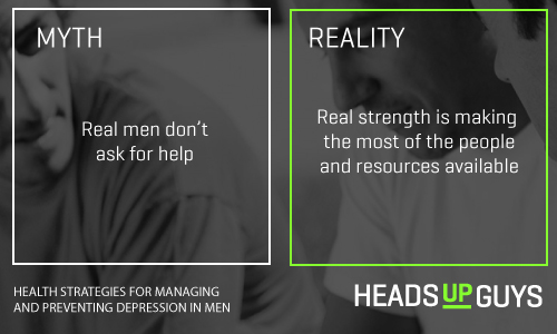 Mens Depression Myths - Real Strength