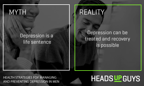 Mens Depression Myths - Recovery