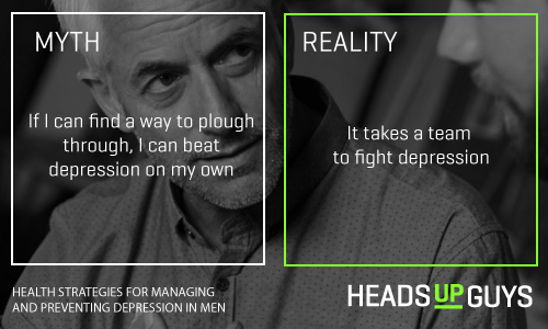 Mens Depression Myths - Team Effort