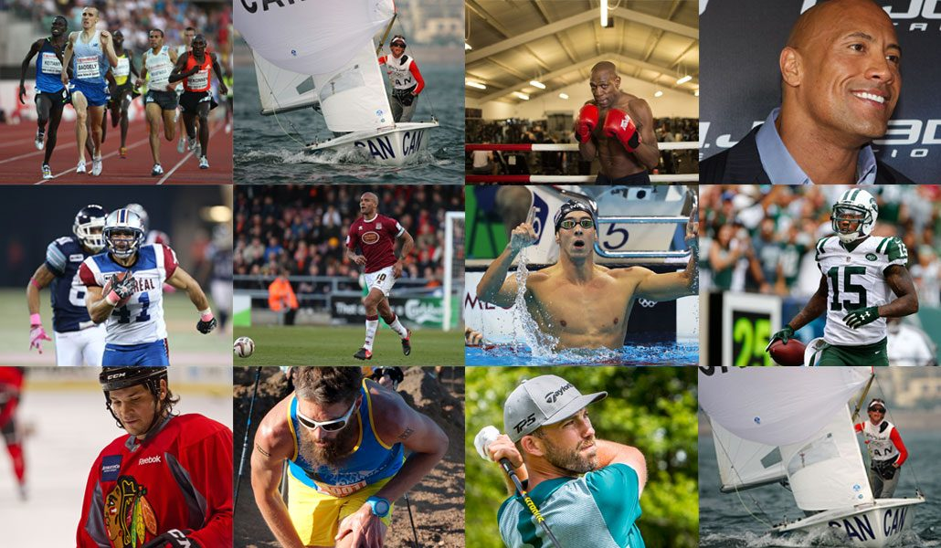 Collage of Male Athletes