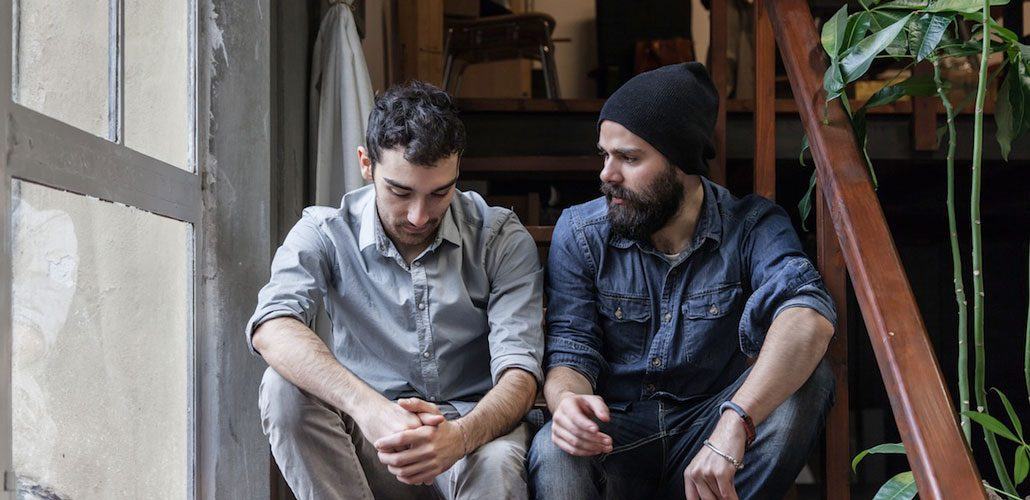 Men talking about depression