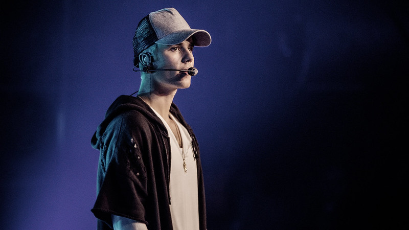 Justin Bieber Performing at Concert