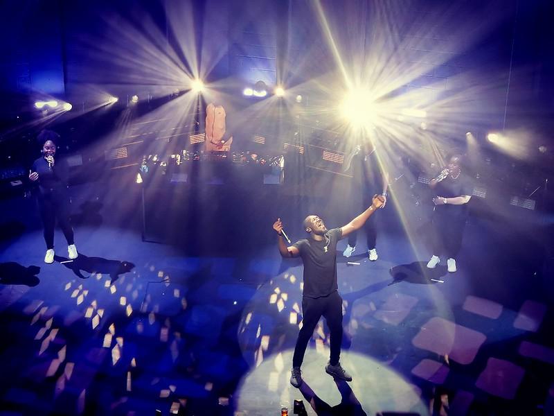 Rapper Stormzy Performing at Concert