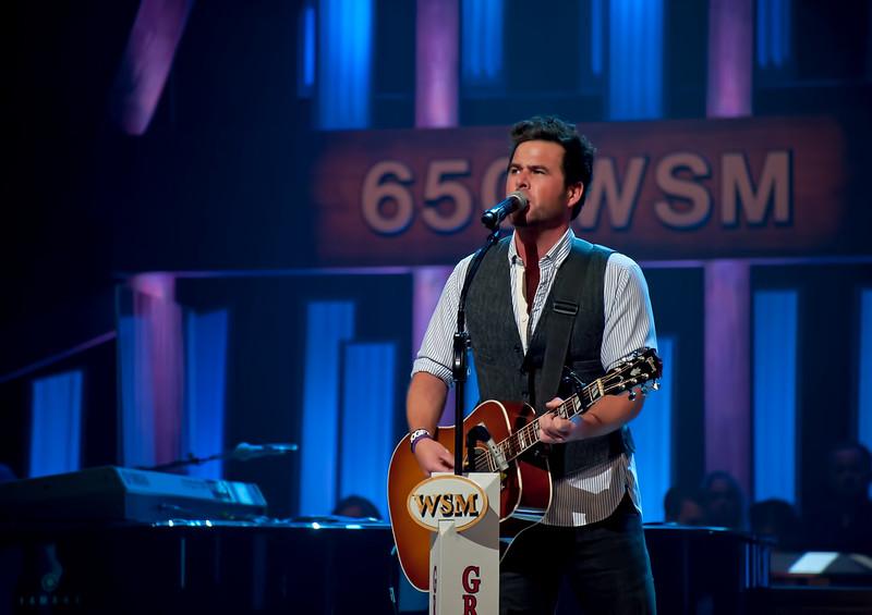 Country Musician David Nail Performing at Concert