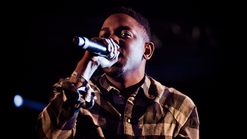 Rapper Kendrick Lamar Performing at Concert
