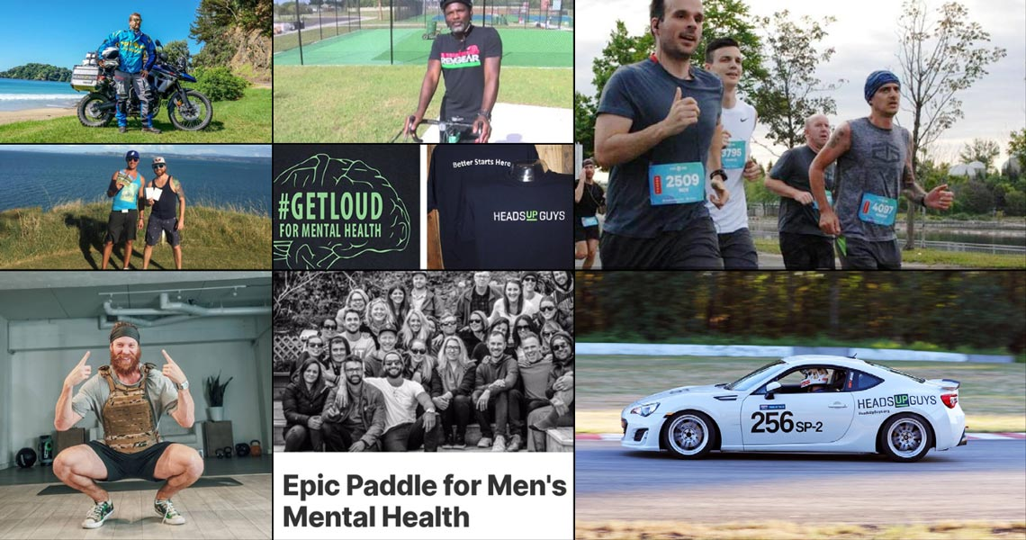 Image of various fundraising events for HeadsUpGuys