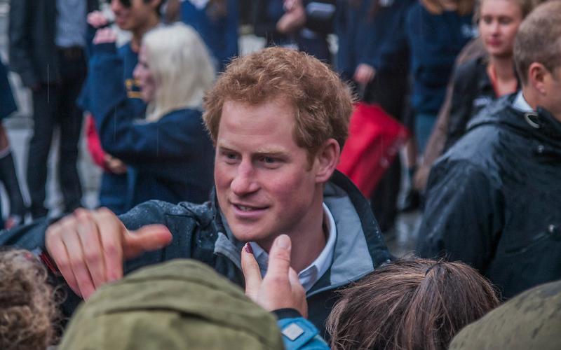 Prince Harry greeting crowd