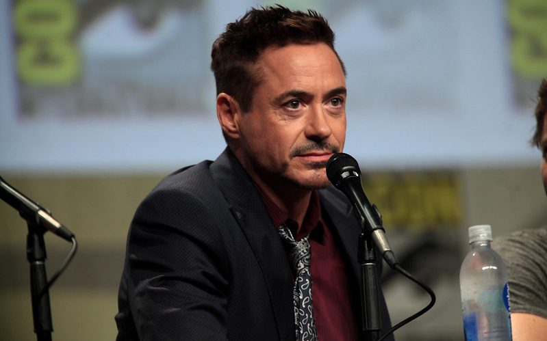 Robert Downey Jr answering questions at Comic-con