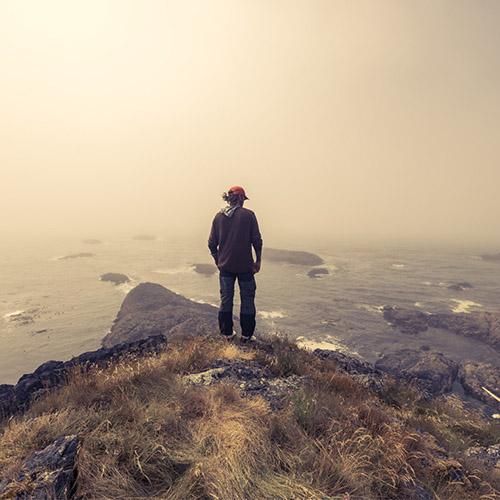 Kris overlooking shoreline